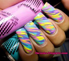 Pastel Lines #Nails #NailArt