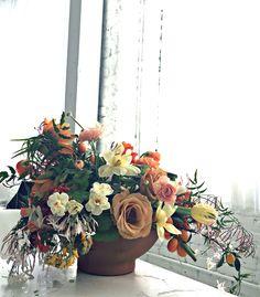 Arrangement I did during the Amy Merrick Flower Arranging Class a few months ago.
