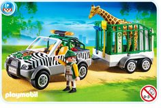 Playmovbil Zoo Vehicle with Trailer
