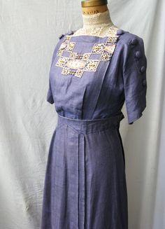Purple edwardian dress