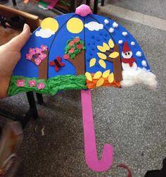 seasons preschool activities and crafts « Preschool and Homeschool Kids Crafts, Summer Crafts, Toddler Crafts, Projects For Kids, Art Projects, Arts And Crafts, Paper Crafts, Diy Paper, Weather Crafts