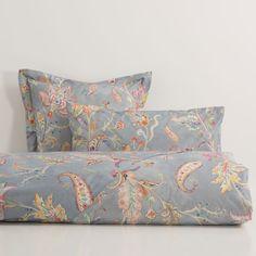 Blue Floral Print Bed Linen