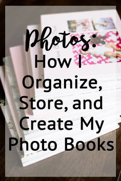 How one person organizes, creates and stores her photo books. My Photo Book, Photo Books, Family Yearbook, Picture Storage, Foto Fun, Photo Projects, Photo Displays, Getting Organized, Family Posing
