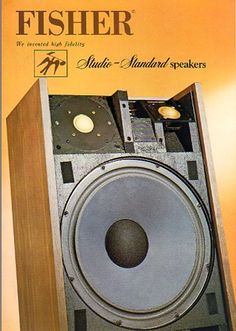 Fisher, Vintage Records, Stereo Speakers, Diy Electronics, Loudspeaker, Audio Equipment, Audiophile, Ads, Acoustic