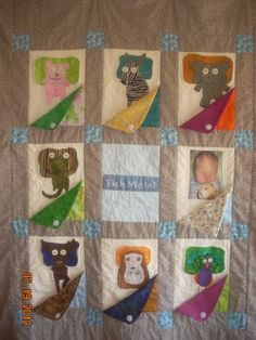 """Interactive quilt handcrafted by a fan of the  interactive bedtime favorite """"Tuck Me In!"""" http://vine.co/v/hnvmxxearWh"""