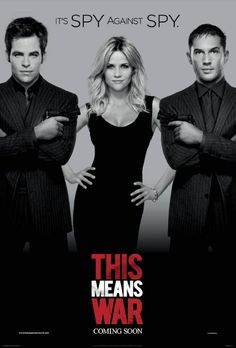 This Means War. Saw this yesterday and it was a lot better than I was expecting it to be, which was surprising. Regardless, I still really liked it and it was funny and action packed.