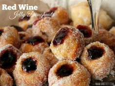 Homemade Donut Recipes | Easy Red Wine Jelly Doughnuts from Scratch by ...