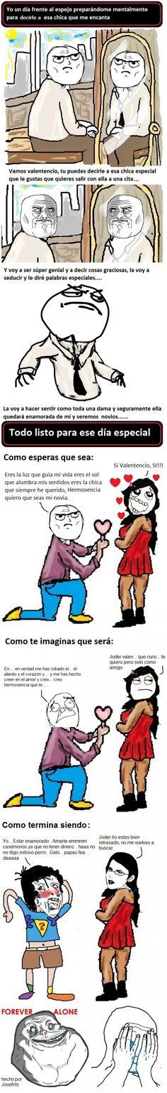 ★★★★★ Memes chistosos colombianos: Cuando por fin me animo a decirle lo que…