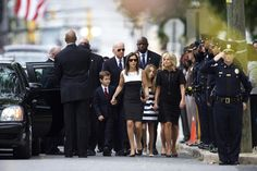 Vice President Joe Biden and his wife, Dr. Jill Biden, arrive with family for a mass of Christian burial at St. Anthony of Padua Church for Beau Biden, on June 2015 in Wilmington, Del. (Photo by Mark Makela/Getty) Beau Biden, Jill Biden, Obama Vice President, Michelle And Barack Obama, Obama And Biden, People Of Interest, Nbc News, Black History, Funeral