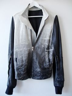 I love the ombre effect of this jacket, and I love how sleek it can make an outfit look.