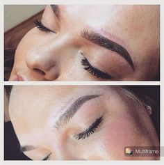 SHADOW BROWS. Permanent make-up, but different. The first brow is right after…