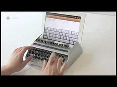 Vintage Tablet Holders - The iPad iTypeWriter Gives an Old-School Feel to New Devices (VIDEO)