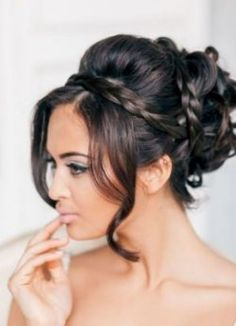 Acconciature sposa 2015 capelli neri