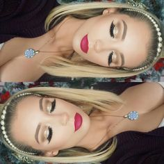 """NICOL CONCILIO on Instagram: """"Glittery New Years Eve makeup tutorial is now live on my YouTube LINK IN BIO xo Lashes: @hudabeauty @shophudabeauty in Scarlett Foundation: @toofaced born this way Brushes: @morphebrushes use discount code NICOL at checkout or in stores Brows: @anastasiabeverlyhills dipbrow pomade in soft brown"""""""