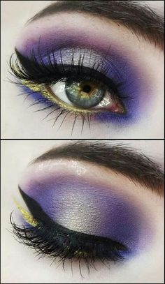 Gold and Purple Eye Shadow