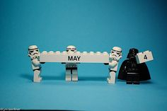 May the fourth be with you Star Wars Lego Star Wars Love, Star Wars Art, Lego Star Wars, Legos, May The Forth, Happy Star Wars Day, Lego Stormtrooper, Super Troopers, Lego Worlds