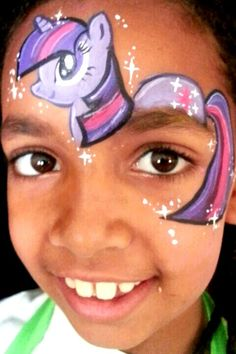 Face Painting Toronto – The Best Party Face Painters in Toronto A My little pony face painting Face Painting Unicorn, Face Painting Tips, Girl Face Painting, Unicorn Face, Face Painting Designs, Painting For Kids, Body Painting, My Little Pony Twilight, My Little Pony Party