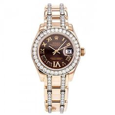 Rolex Pearlmaster swissautomatic brown womens Watch 80285BR Certified Preowned * Click image to review more details.