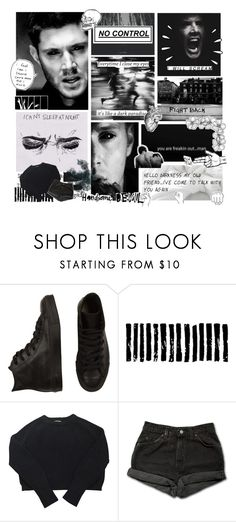 """""""no limits- Dean Winchester"""" by tkcostner ❤ liked on Polyvore featuring Converse, Camp, Old Navy, American Apparel, Levi's and Burfitt"""