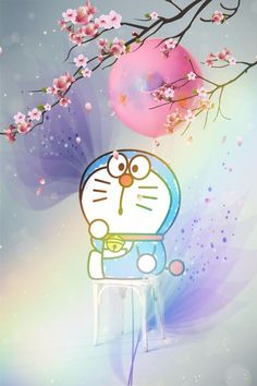 freetoedit waiting for flowers to fall doraemon Miracle...