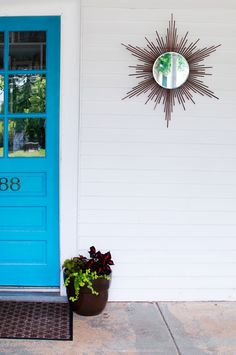 How To Make a Sunburst Porch Mirror