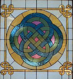 Storyteller Celtic Design Stained Glass Window