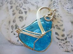Luminescent Sapphire Blue Andara volcanic glass by TheLeopardsLair, $69.95