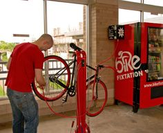 Fixtation: Bike Repair Stations with Vending Machines | Gadget Lab | Wired.com