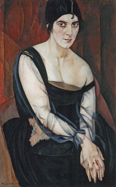 Portrait of Maria Yasnaya, 1917 by Boris Grigoriev (Russian 1886-1939)