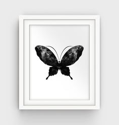Butterfly Print Butterfly Printable Poster Art by GalliniDesign