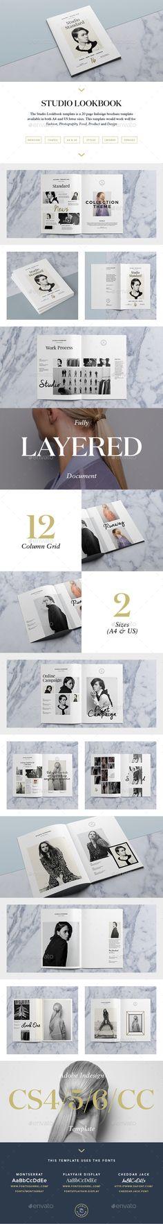 Studio Lookbook Template #design Download: http://graphicriver.net/item/studio-lookbook/10186162?ref=ksioks