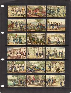 Vintage Swiss Napoleonic Battles set of 21 matchbox labels. For the collector or for craft or art projects. Please see 2 scans. Let stamps add another layer of story to your crafts.  Stamps will be sent securely packaged in a small envelope to fit through your letterbox. Pay only one postage and packing charge when you purchase multiple items at the same time. Display card not included.
