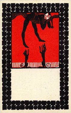 Twenty Postcards of the Wiener Werkstätte – Urban Janke, Til Eulenspiegel, postcard 18