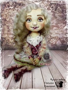 Ручная работа Текстильная кукла Мила.