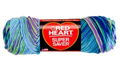 Red Heart Super Saver Yarn-Wildflowers - I Crochet World Knitting Gauge, Knitting Needles, Free Knitting, Thread Crochet, Crochet Yarn, Crochet Hooks, Yarn Crafts, Sewing Crafts, Queen Size Bedspread