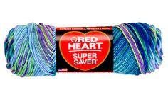 Red Heart Super Saver Yarn-Wildflowers - I Crochet World Cotton Crochet, Thread Crochet, Crochet Yarn, Crochet Hooks, Yarn Winder, Yarn Braids, Blanket Yarn, Super Saver, Crochet World