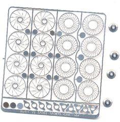 DM-317072 Spoke Wheel Inserts plus Billet centers 4pc
