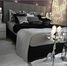 gray bedroom with pop of color ; gray bedroom ideas with pop of color ; gray bedroom ideas for couples ; Suites, Bedroom Inspo, Bedroom Inspiration, Bedroom Themes, Design Bedroom, Bedroom Decor Glam, Bedroom Colors, Gray Home Decor, Grey Room Decor