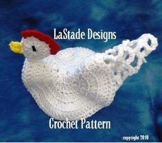 Chicken Pot Holder Hot Pad PDF Crochet | LaStadeCrochet                                                                                                                                                                                 More