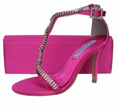Fuchsia Pink Evening Sandals | Sole Divas