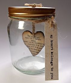 Valentines Day Heart Jar - gifts for him or her. This can Valentines Day Heart Jar – gifts for him or her. This can be given at any time t… Valentines Day Heart Jar – gifts for him or her. This can be given at any time t… – – - Valentines Day Hearts, Valentine Day Crafts, Be My Valentine, Diy Valentines Day Gifts For Him, Valentine Ideas, Mason Jars, Mason Jar Crafts, Diy Love, Idee Diy