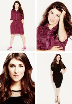 """{Mayim Bialik} She suffers from """"baby hair bangs that never grow"""" syndrome too. It makes me feel better that I'm not the only one. :D"""