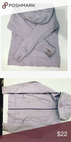 Lululemon athletica purple Scuba Hoodie See pictures for stains. lululemon athletica Jackets & Coats