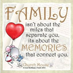 Amen! Distance means so little when someone means so much. #LittleChurchMouse