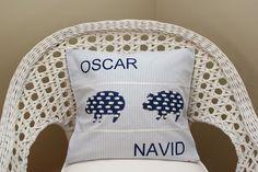 Kissenhülle 40 x 40 für Oscar Navid - selbstgenähtes von Karo Blümchen.
