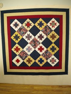 Quilts of Valor: Floating Stars in Idaho quilt flag, quilt stuff, star quilt, float star, quilt idea, veteran quilt