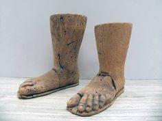 Pair of Hand-Carved Italian Saints Feet - Mecox Gardens