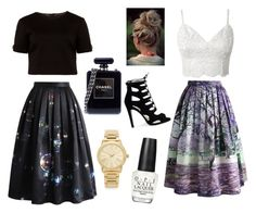 Untitled #31 by kdeanbh on Polyvore featuring polyvore moda style Ted Baker Chicwish Chanel Michael Kors OPI fashion clothing
