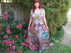 handbemaltes Seidenkleid Groesse L von Amina-Marei auf DaWanda.com