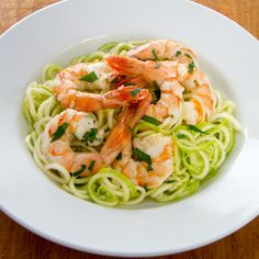 Garlic Roasted Shrimp with Zucchini Pasta – The Foodee Project
